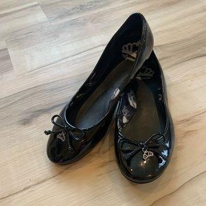 Fergalicious Black Patent Leather Ballet Flats 8.5